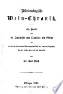 Württembergische Wein-Chronik