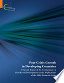 Post Crisis Growth In Developing Countries book