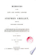 Mamoirs of the life and gospel labours of Stephen Grellet