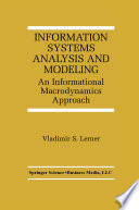 Information Systems Analysis And Modeling book