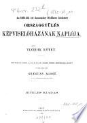 Országgyűlés képviselőházának naplója