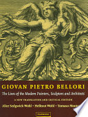 Giovan Pietro Bellori  The Lives of the Modern Painters  Sculptors and Architects