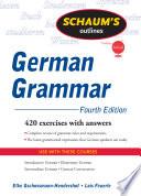 Schaum s Outline of German Grammar  4ed