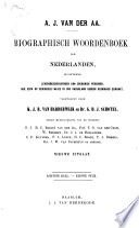 Biographisch woordenboek der Nederlanden