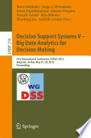 Decision Support Systems V Big Data Analytics For Decision Making