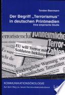 """Der Begriff """"Terrorismus"""" in deutschen Printmedien"""