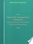 Opere Di Alessandro Manzoni