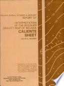 R037  Interpretation of the Bouguer gravity map of Nevada  Caliente sheet