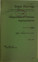 Department of Defense Appropriations