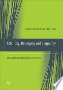 Ethnicity  Belonging and Biography Book PDF