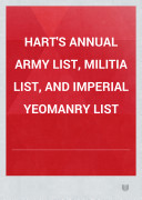 download ebook hart\'s annual army list, militia list, and imperial yeomanry list pdf epub