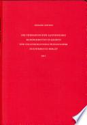 Die theologischen lateinischen Handschriften in Quarto der Staatsbibliothek Preussischer Kulturbesitz Berlin