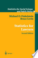 Statistics for Lawyers