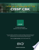 Official Isc 2 Guide To The Cissp Cbk Fourth Edition