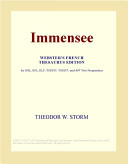 Immensee  Webster s French Thesaurus Edition