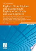 Englisch F R Architekten Und Bauingenieure English For Architects And Civil Engineers