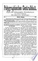 Polygraphisches Centralblatt