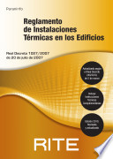 RITE  Reglamento de Instalaciones T  rmicas en los Edificios