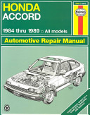 Honda Accord 1984 1989