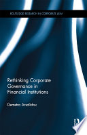 Rethinking Corporate Governance in Financial Institutions