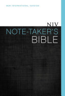 NIV Note Taker s Bible