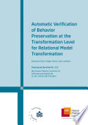 Automatic Verification Of Behavior Preservation At The Transformation Level For Relational Model Transformation
