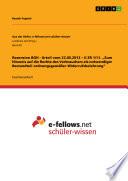"""Rezension BGH - Urteil vom 22.05.2012 – II ZR 1/11. """"Zum Hinweis auf die Rechte des Verbrauchers als notwendiger Bestandteil ordnungsgemäßer Widerrufsbelehrung"""""""