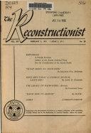 Reconstructionist
