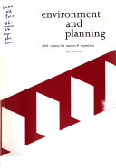Environment & Planning A.