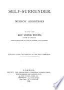 Self surrender  Mission addresses Book PDF
