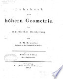Lehrbuch d. höhern Geometrie