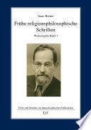 Frühe religionsphilosophische Schriften