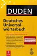 Duden, Deutsches Universalwörterbuch