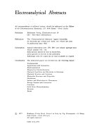Electroanalytical Abstracts book