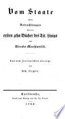 Niccolo Machiavelli's Sämmtliche Werke