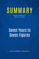 download ebook summary: seven years to seven figures pdf epub