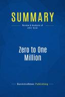 download ebook summary: zero to one million pdf epub