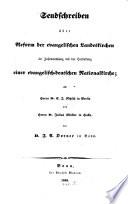 Sendschreiben über Reform der evangelischen Landeskirchen im Zusammenhang mit der Herstellung einer evangelisch-deutschen Nationalkirche0