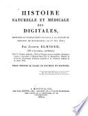 Histoire Naturelle Et Medicale Des Digitales