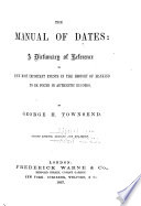 A Manual of Dates