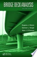 Bridge Deck Analysis  Second Edition