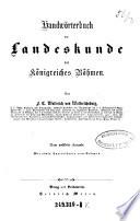 Handwörterbuch der Landeskunde des Königreiches Böhmen