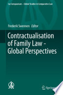 Contractualisation of Family Law   Global Perspectives