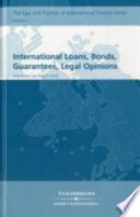 International Loans, Bonds, Guarantees, Legal Opinions