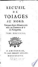 Recueil De Voyages Au Nord