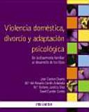 Violencia Dom Stica Divorcio Y Adaptaci N Psicol Gica