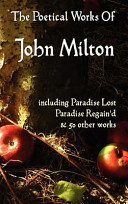 download ebook paradise lost, paradise regained, and other poems. the poetical works of john milton pdf epub