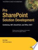 Pro SharePoint Solution Development