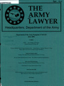 The Army Lawyer