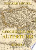 Geschichte des Altertums  Band 1